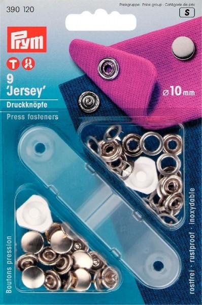 "PRYM 390120 Nähfrei-Druckknopf ""Jersey"", glatte Kappe, 10mm, silberfarbig"