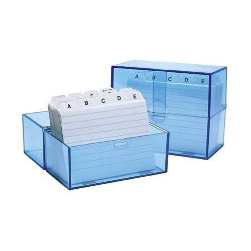 Karteikartenbox A7 mit 100 Karteikarten und Register A-Z