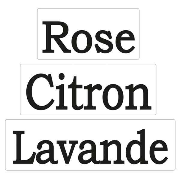 "RAYHER Seifenlabels ""Lavande"", ""Citron"", ""Rose"""