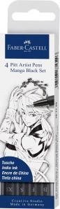 Pitt Artist Pen Tuschestift 4er Manga Black Set
