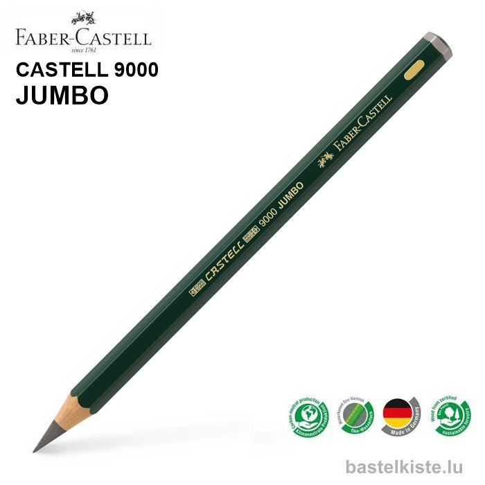 Castell 9000 Jumbo Bleistifte einzeln HB bis 8B