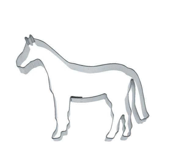 Präge-Ausstechform Pferd 8 cm aus Edelstahl