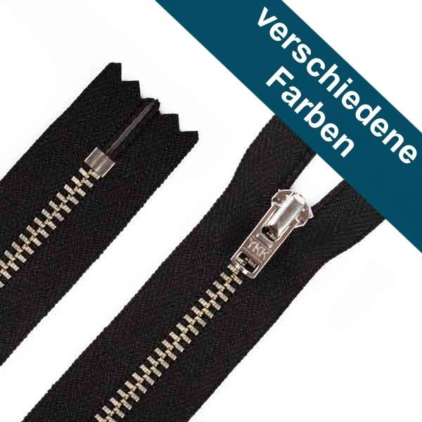 12cm Hosen Reißverschluss Metall Silberzähne