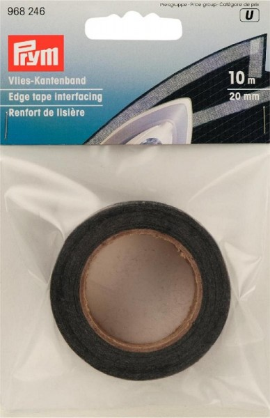 Vlies-Kantenband 20mm graphit 10m Prym 968246