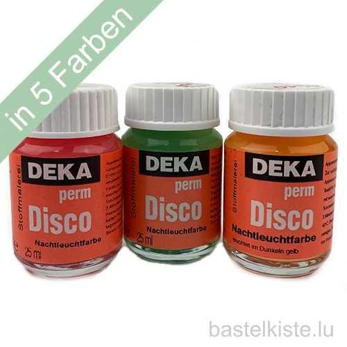 Stoffmalfarbe DISCO Perm Nachtleuchtfarbe 25ml, GLOW in the Dark