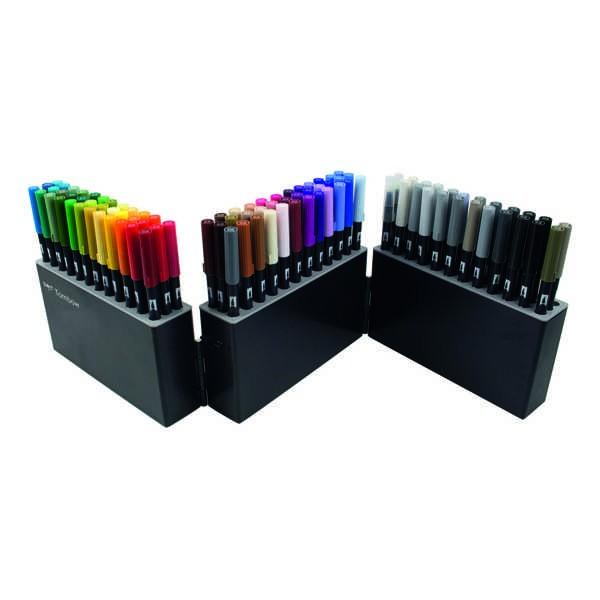 TOMBOW ABT Dual Brush Pen Marker Case mit 107 Farben + Blender