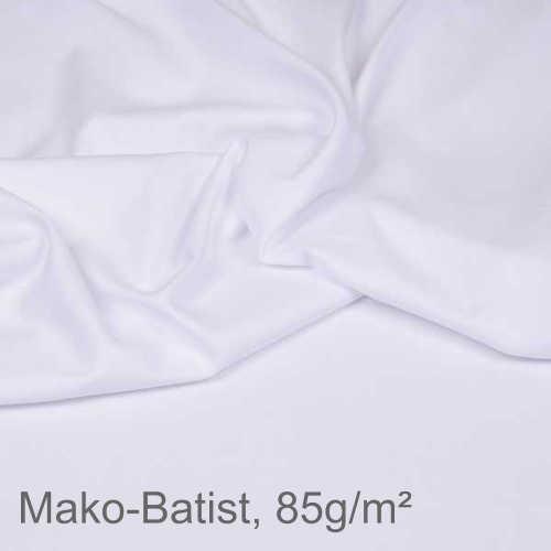 Mako-Batist 100% Baumwolle, 150cm breit, 85g/m² weiss