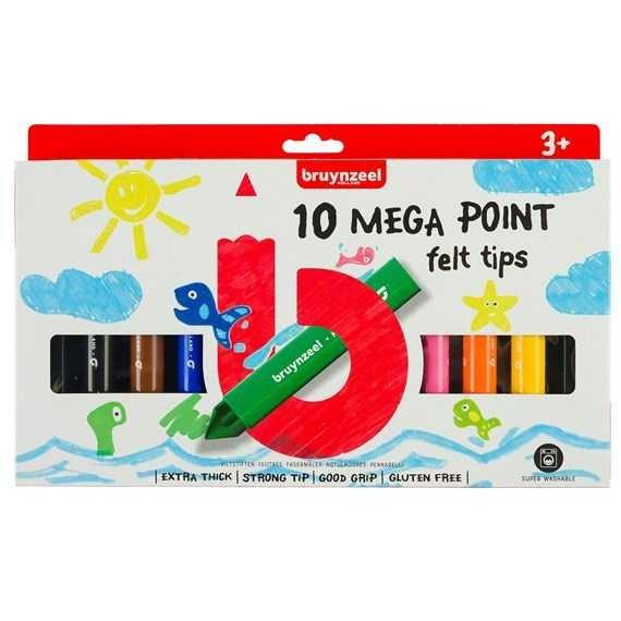 10-teiliges Mega Points Fasermalerset für Kinder