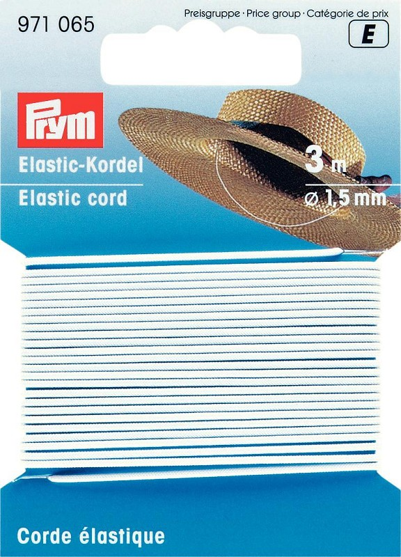 Prym Elastic-Kordel rund 1,5mm, 3m
