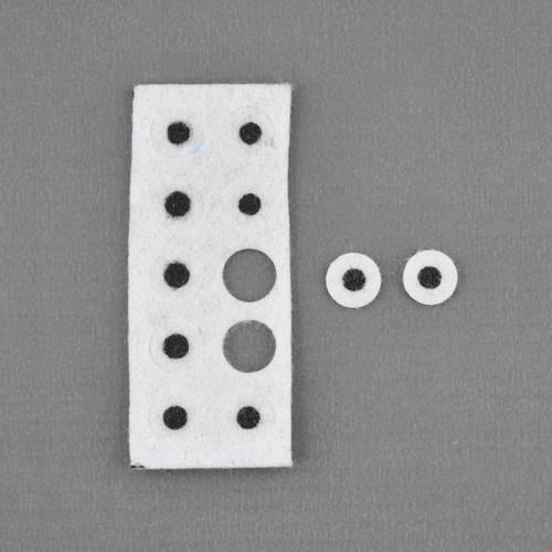 Filzaugen, Filz-Augen Ø 10mm, 10 Stück