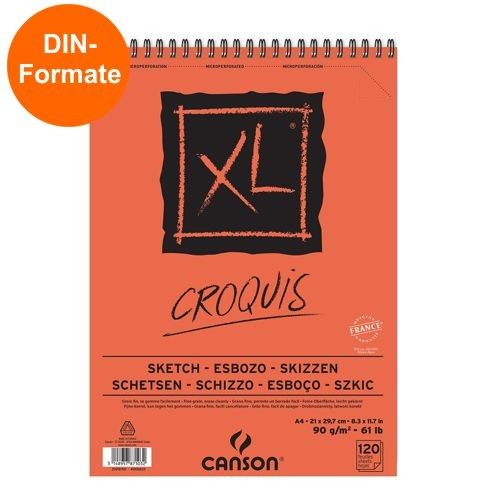 Canson XL Croquis Spiralbindung Skizzenblock 90g/m²