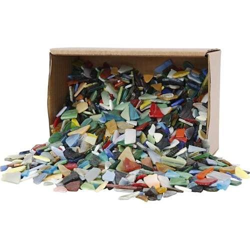 Glasmosaik, Glasbruchstücke 2 kg, (8-20 mm) sortiert