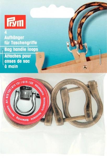 Aufhänger für Taschengriffe, 18mm, Altmessing PRYM 615132