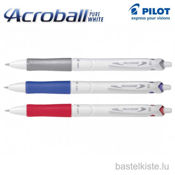 Pilot ACROBALL Pure White 1.0 Kugelschreiber (M)