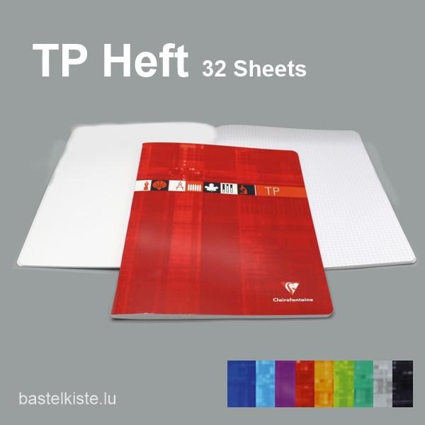 TP-Hefte Kariert & Blanco 24x32, in verschiedenen Farben