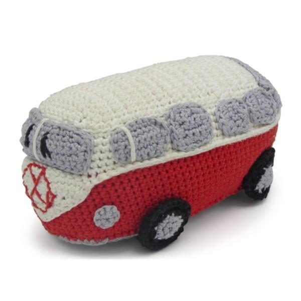 Häkelset roter VW Bus AMIGURUMI