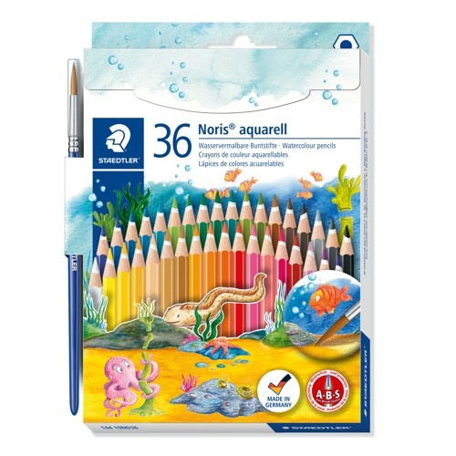 NORIS Aquarell, 36er Set Wasservermalbare Buntstifte