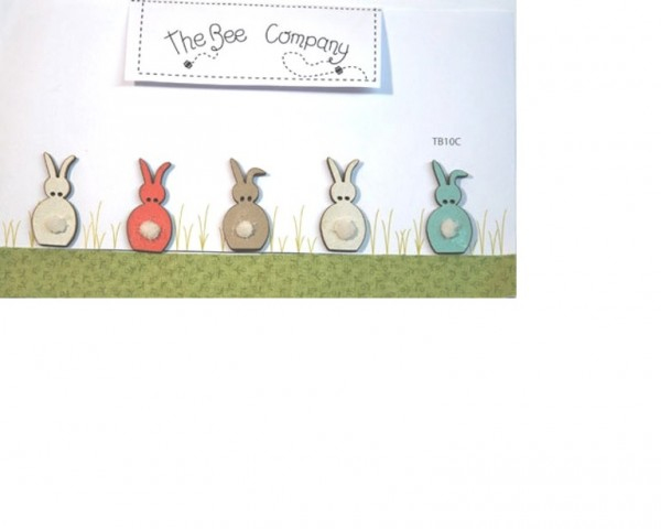 The Bee Company, Buttons - assorted rabbits