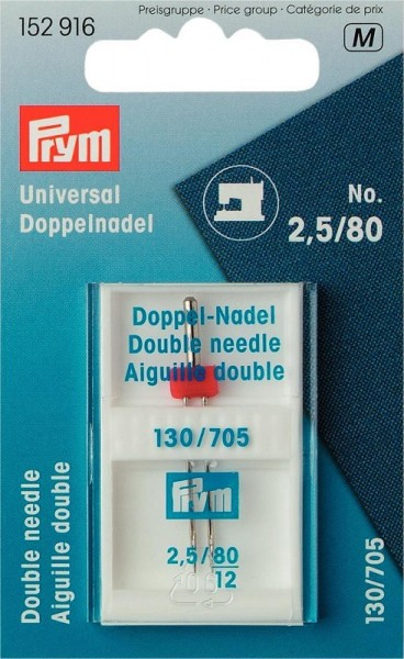 PRYM 152916 Doppel-Maschnadeln Universal 80/2,5 1 Stk.