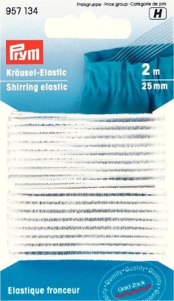 Kräusel-Elastic 25mm weiß von PRYM 957134