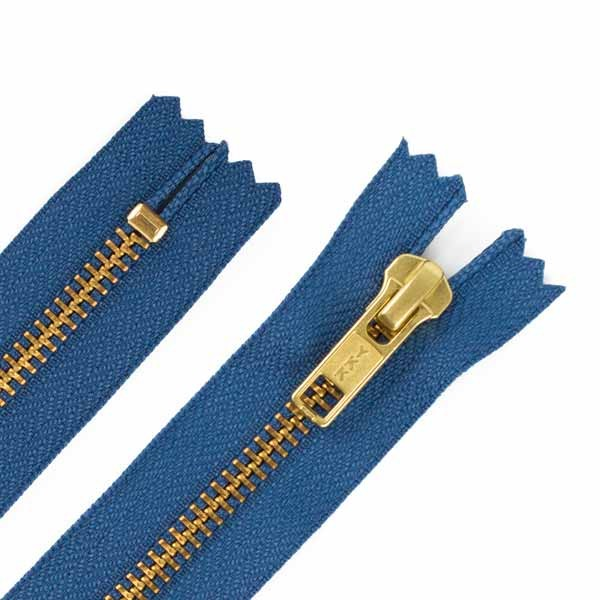 14cm Hosen Reißverschluss Metall Goldzähne 5mm