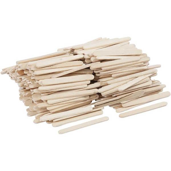 Holzstiele, Eisstiele 55 x 6 mm, 400 Stück