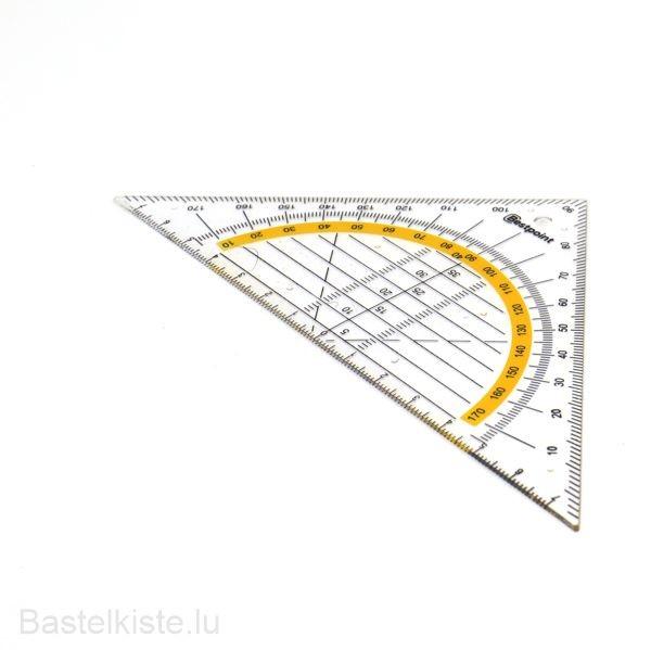 Kunststoff Geodreieck 15cm